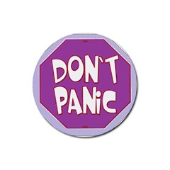 Purple Don t Panic Sign Drink Coasters 4 Pack (round)