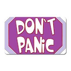 Purple Don t Panic Sign Magnet (rectangular)