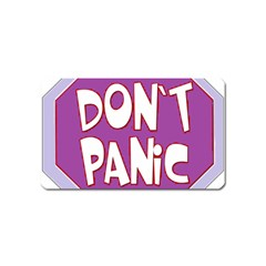 Purple Don t Panic Sign Magnet (Name Card)