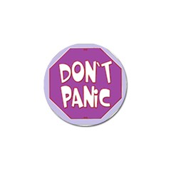 Purple Don t Panic Sign Golf Ball Marker 4 Pack
