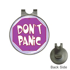 Purple Don t Panic Sign Hat Clip with Golf Ball Marker