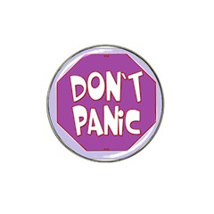 Purple Don t Panic Sign Golf Ball Marker 10 Pack (for Hat Clip)