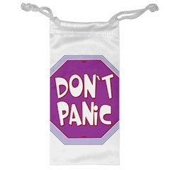 Purple Don t Panic Sign Jewelry Bag