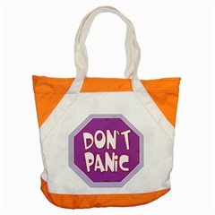 Purple Don t Panic Sign Accent Tote Bag
