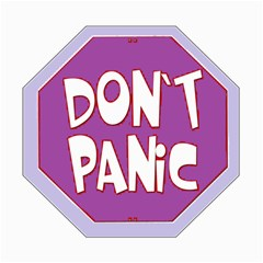 Purple Don t Panic Sign Canvas 16  X 16  (unframed)