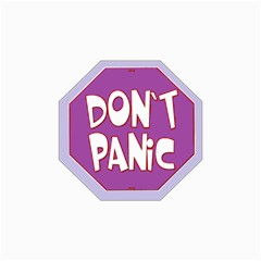 Purple Don t Panic Sign Canvas 18  X 24  (unframed)