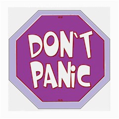 Purple Don t Panic Sign Glasses Cloth (Medium, Two Sided)
