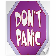Purple Don t Panic Sign Canvas 11  x 14  (Unframed)