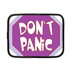 Purple Don t Panic Sign Netbook Sleeve (Small)