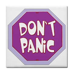 Purple Don t Panic Sign Face Towel