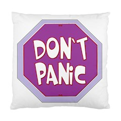 Purple Don t Panic Sign Cushion Case (Two Sided)