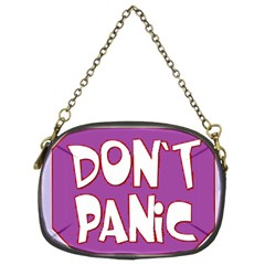 Purple Don t Panic Sign Chain Purse (two Sided)