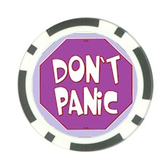 Purple Don t Panic Sign Poker Chip (10 Pack)