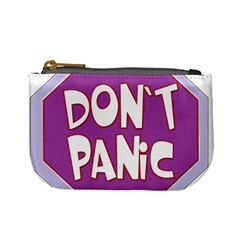 Purple Don t Panic Sign Coin Change Purse