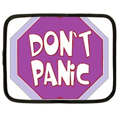 Purple Don t Panic Sign Netbook Sleeve (xl)