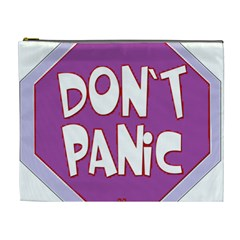 Purple Don t Panic Sign Cosmetic Bag (XL)