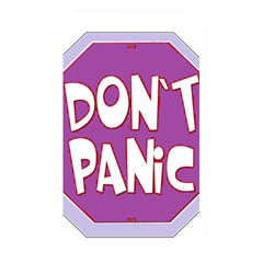 Purple Don t Panic Sign Memory Card Reader (rectangular)