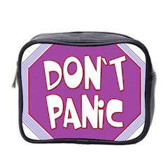 Purple Don t Panic Sign Mini Travel Toiletry Bag (two Sides)
