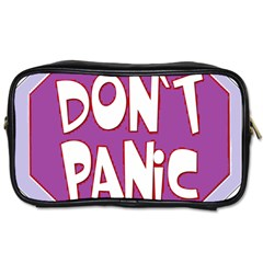 Purple Don t Panic Sign Travel Toiletry Bag (One Side)