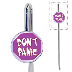 Purple Don t Panic Sign Bookmark