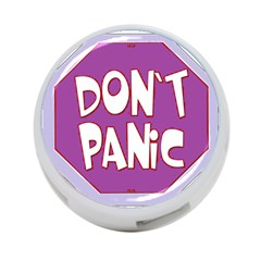 Purple Don t Panic Sign 4 Port Usb Hub (two Sides)