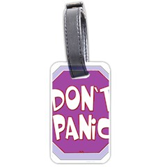 Purple Don t Panic Sign Luggage Tag (Two Sides)