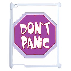 Purple Don t Panic Sign Apple Ipad 2 Case (white)