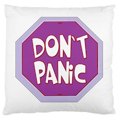 Purple Don t Panic Sign Large Cushion Case (Two Sided)