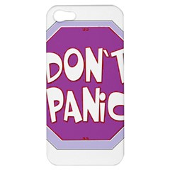 Purple Don t Panic Sign Apple Iphone 5 Hardshell Case