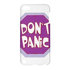 Purple Don t Panic Sign Apple Ipod Touch 5 Hardshell Case