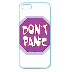 Purple Don t Panic Sign Apple Seamless Iphone 5 Case (color)