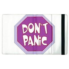 Purple Don t Panic Sign Apple iPad 2 Flip Case