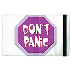 Purple Don t Panic Sign Apple iPad 3/4 Flip Case