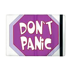 Purple Don t Panic Sign Apple iPad Mini Flip Case