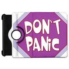 Purple Don t Panic Sign Kindle Fire Hd 7  (1st Gen) Flip 360 Case