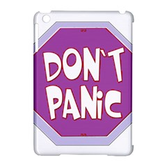 Purple Don t Panic Sign Apple iPad Mini Hardshell Case (Compatible with Smart Cover)