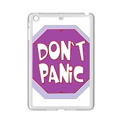 Purple Don t Panic Sign Apple Ipad Mini 2 Case (white)