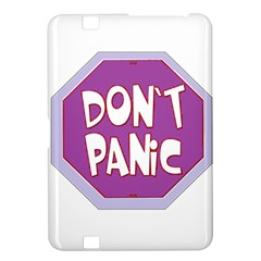 Purple Don t Panic Sign Kindle Fire HD 8.9  Hardshell Case