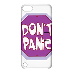 Purple Don t Panic Sign Apple Ipod Touch 5 Hardshell Case With Stand