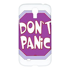 Purple Don t Panic Sign Samsung Galaxy S4 I9500/i9505 Hardshell Case
