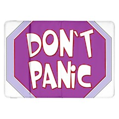 Purple Don t Panic Sign Samsung Galaxy Tab 8.9  P7300 Flip Case