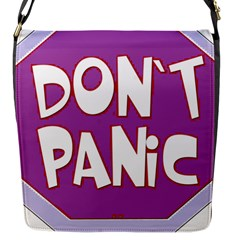 Purple Don t Panic Sign Flap Closure Messenger Bag (Small)