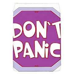 Purple Don t Panic Sign Removable Flap Cover (small)