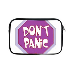 Purple Don t Panic Sign Apple iPad Mini Zippered Sleeve