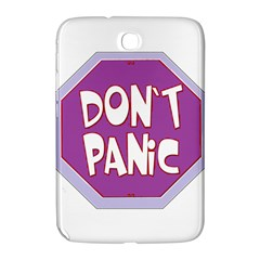 Purple Don t Panic Sign Samsung Galaxy Note 8.0 N5100 Hardshell Case