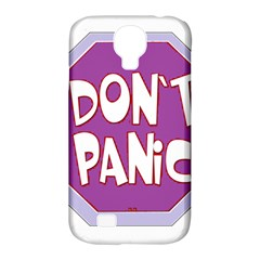 Purple Don t Panic Sign Samsung Galaxy S4 Classic Hardshell Case (PC+Silicone)