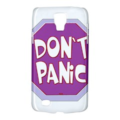 Purple Don t Panic Sign Samsung Galaxy S4 Active (I9295) Hardshell Case