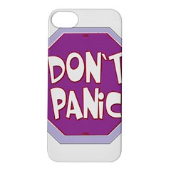 Purple Don t Panic Sign Apple iPhone 5S Hardshell Case