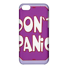 Purple Don t Panic Sign Apple Iphone 5c Hardshell Case