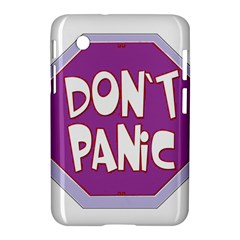 Purple Don t Panic Sign Samsung Galaxy Tab 2 (7 ) P3100 Hardshell Case
